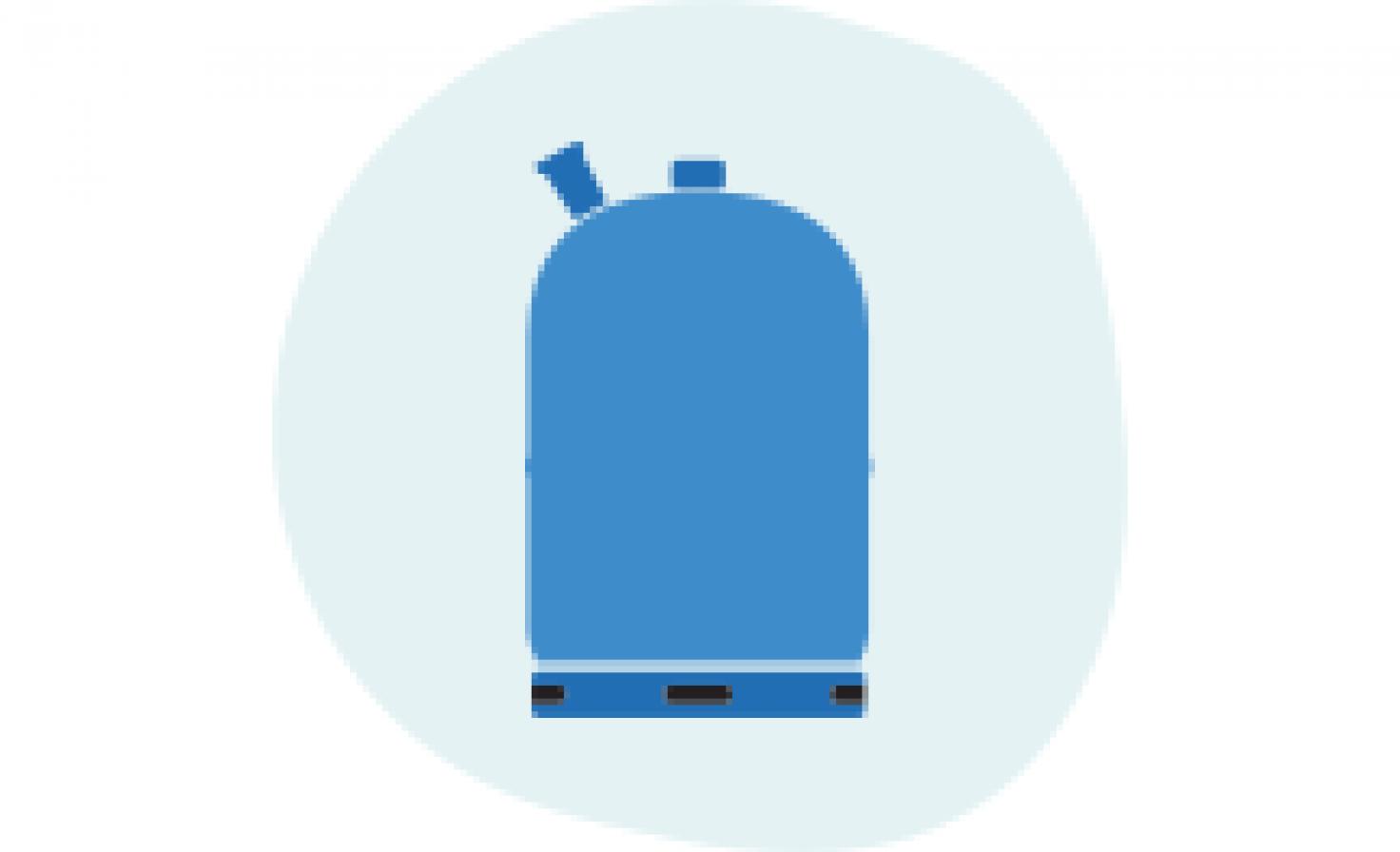 Schematische Darstellung Druckgas-Tank