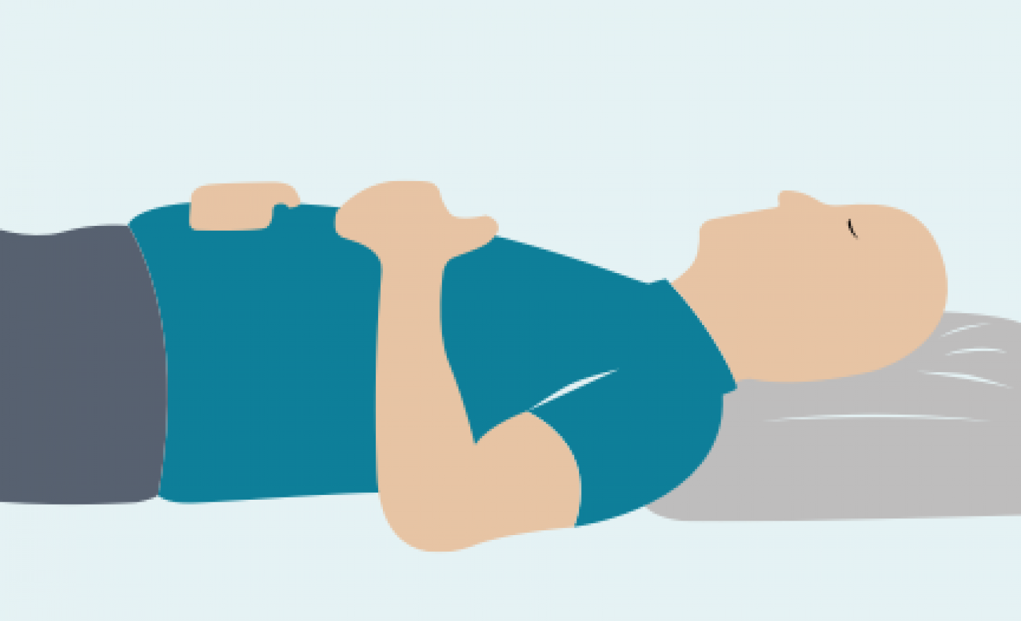 Diagram of a man laying down