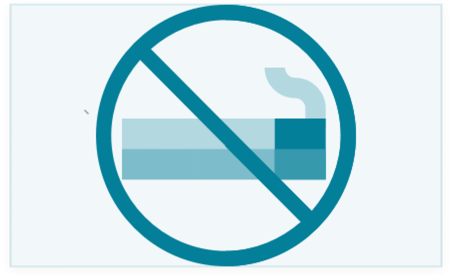 Diagram of no smoking symbol
