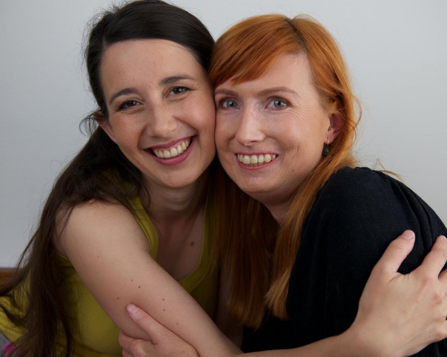 Two ladies taking a friendly selfie